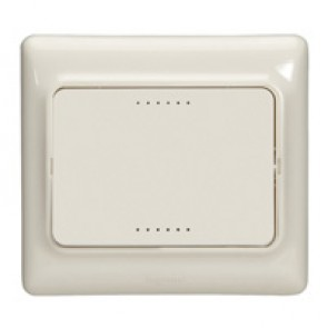 One-way switch Kaptika - flush mounting - 10 AX 250 V~ - ivory