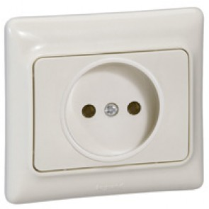 2P socket outlet Kaptika - flush mounting - 16 A 250 V~ - ivory