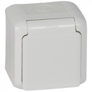 2P+E German standard socket outlet Forix -surface mounting - 16 A -250 V~ -white