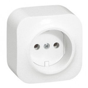 2P socket outlet Forix - surface mounting - IP2X - 16 A 250 V~ - white