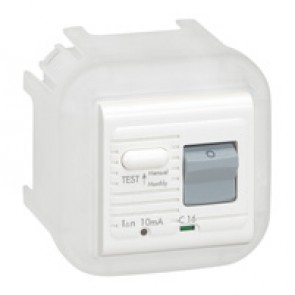 Arteor adaptor - for 2-modules Arteor mechanisms - white