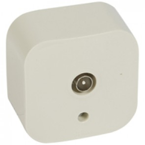 Television socket Forix - surface mounting - IP2X - male connector - ivory