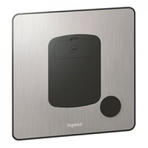 Fused connect unit Synergy -unswitched + cord -13 A-250 V~ Sleek Design brushed stainless steel