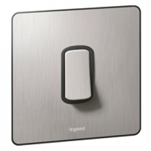 Single Pole plate switch Synergy -1 gang -2-way -20 AX -250 V~ Sleek Design brushed stainless steel