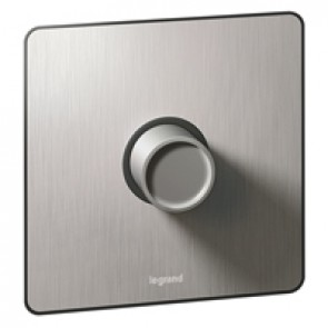 Rotary universal dimmer Synergy -1 gang -2-way push Sleek Design brushed stainless steel