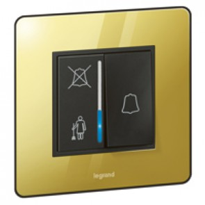 Hotel call indicator Synergy - DND/Please clean up - Sleek Design glossy gold