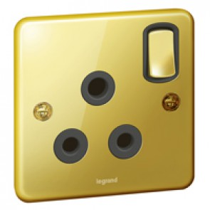 British standard Synergy -1 gang switch -single P -15 A -250 V~ -Authentic glossy gold