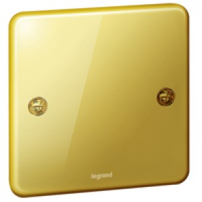 Blanking plate Synergy - 1 gang - Authentic glossy gold