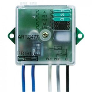 MyHOME_Up contact interface with 2 independent contacts - basic modularity to be installed in flush-mounting box