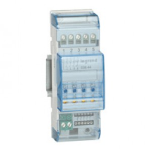 MyHOME_Up multi-application DIN controller - NO contact - 2 modules - 4 outputs 6 A - common phase