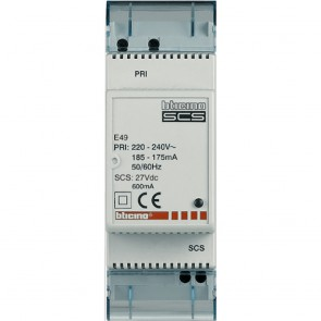 Power supply input 230 V~ output 27 V= 0.6 A for MyHOME_Up installation - 2 DIN modules