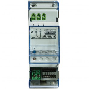 MyHOME_Up multi-application DIN controller - NO contact - 2 modules - with 1 NO/NC relay