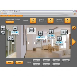 Supervision software for MyHOME BUS installation